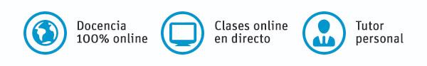 Universidad oficial, clases online en directo, tutor personal